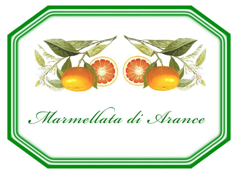 marmellata di arance ricetta ed etichetta