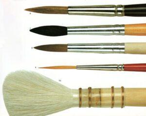 qualità dei pennelli da pittore