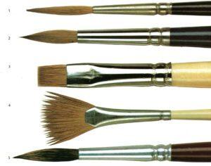 pennelli in setole naturali e pennelli sintetici