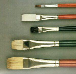 i materiali e le attrezzature per la pittura