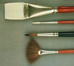 materiali e attrezzature per la pittura